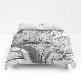 Vintage Map of Washington D.C. (1893) BW Comforters