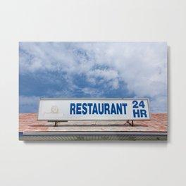 Open 24 Hours. Metal Print