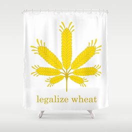 Legalize Wheat Shower Curtain