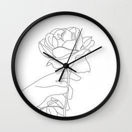 picking roses Wall Clock