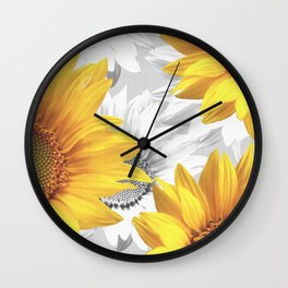 Sunflower Bouquet #decor #society6 #buyart Wall Clock