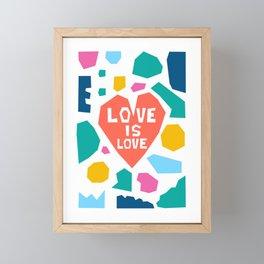 Love Is Love Framed Mini Art Print