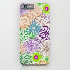 Drawn Flowers iPhone 6s Slim Case
