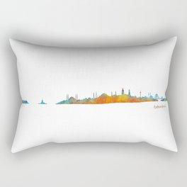 Istanbul City Skyline Hq v1 Rectangular Pillow