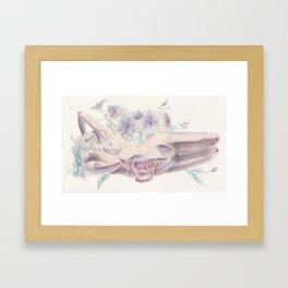 Bathing in a Violet Garden Framed Art Print