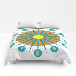 Mod Clock 3 Comforters
