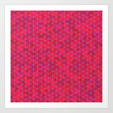 Triangle Grid 1 Art Print