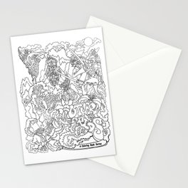 Other Worlds: Coloring Book Line Art Stationery Cards