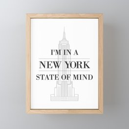 New York State of Mind #1 Framed Mini Art Print