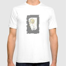 joy Mens Fitted Tee SMALL White