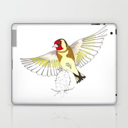 Goldfinch in flight Laptop & iPad Skin