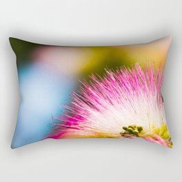Exotic summer pink silk tree mimosa Rectangular Pillow