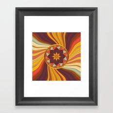Floral vortex Framed Art Print