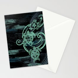 Abstract Tribal Turtles Stationery Cards