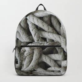 a skein of fishing rope    Backpack