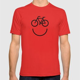 Bike face, bicycle smiley T-shirt