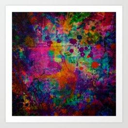colorful canvas i Art Print