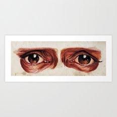 Suffered look Art Print