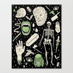 Whole Lotta Horror: BLK ed. Canvas Print