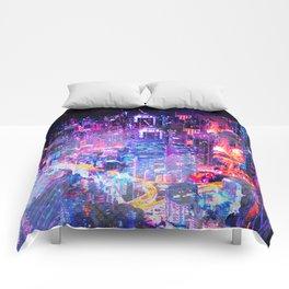 Cyberpunk City Comforters