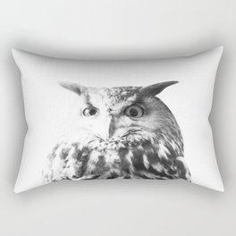 Owl on White #1 #animal #decor #art #society6 Rectangular Pillow
