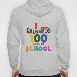 100 Days of School for Kindergarten Elementary Kids Dark Light Hoody