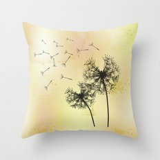 Pusteblumen - Dandelions Throw Pillow