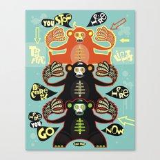Traffic light monkey Canvas Print