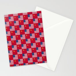 Mix of flag:  Usa and USSR Stationery Cards