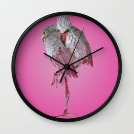 Resting Flamingo Wall Clock