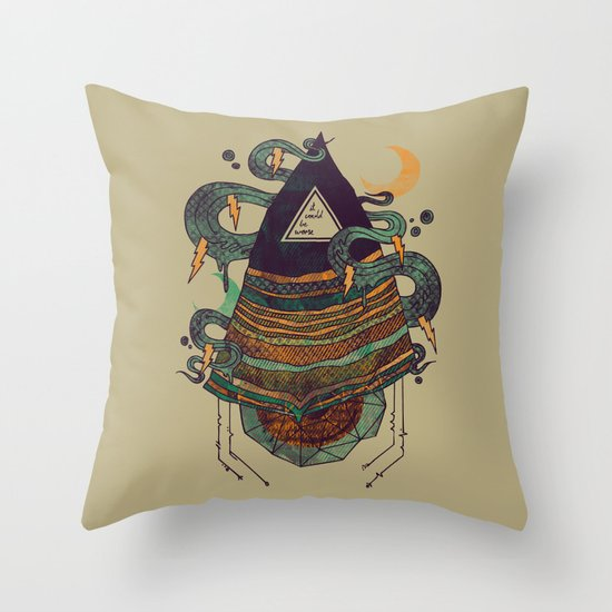 Positive Thinking Throw Pillow