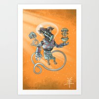 Astro Zodiac Force 08: Ram Art Print