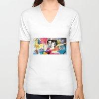 casablanca V-neck T-shirts featuring Casablanca by Paky Gagliano