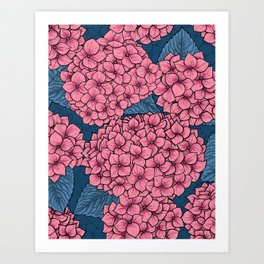 Hydrangea garden Art Print