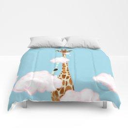 Giraffe Enjoy yummy Cloud Candy Comforters
