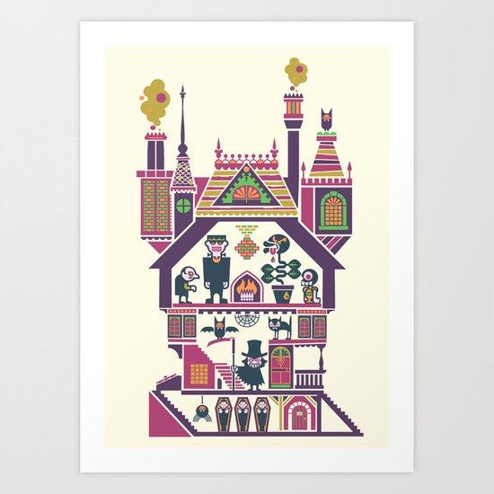 House Of Freaks Art Print