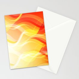 Theme of fire for the banner. Bright red and orange glare on a gentle background for a fabric or pos Stationery Cards