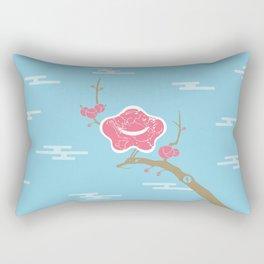 Plum and Dragon Rectangular Pillow