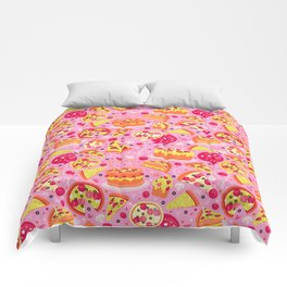 Pizza Party Comforters
