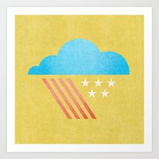 Patriotic Weather. Art Print