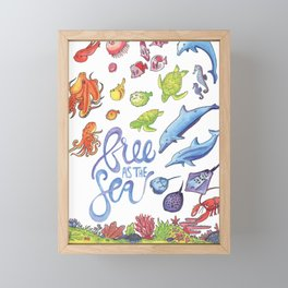 Free as the Sea Framed Mini Art Print