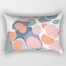 Abstract Shape Flower Art Rectangular Pillow