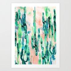 Sunset Cactus Art Print