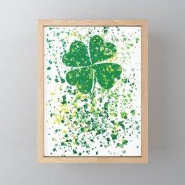 watercolor clover Framed Mini Art Print