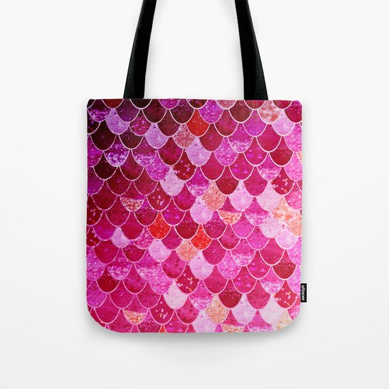 PINK  MERMAID Tote Bag