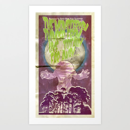 Monsterish Thinger Art Print