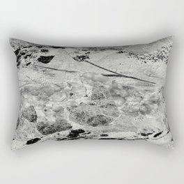 Layers Of Contrast - Black And White Textured Art Rectangular Pillow