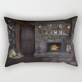 A Character - Decade Self Portraits in Gothic Scene Rectangular Pillow
