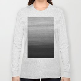 Touching Black Gray White Watercolor Abstract #1 #painting #decor #art #society6 Long Sleeve T-shirt