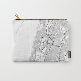 Minimal City Maps - Map Of Yonkers, New York, United States Carry-All Pouch